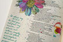 Bible Journaling / Art journaling and Bible journaling
