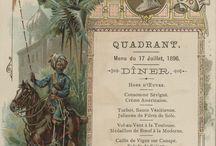 vintage & old menus / menu d'epoca