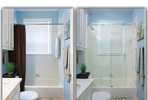 Century Glide Glass Shower / This Glass Door can be placed in your existing space and give it an updated look at an affordable price