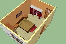 Bed room drawing / Google sketch-up drawings