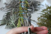 Smudge sticks and dried herb bouquets / smudge sticks and dried herb nature
