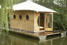 House Boats | Lake Houses / Modern water homes architecturally driven.