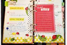 Planner, filofax, printables. / Diary inspiration, filofax, planner, organization..