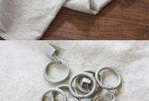 DIY/Curtains / Making curtains out of drop cloth