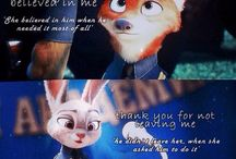 Disney and other kids movies what we will always love. / I love them. Now and forever.. (But Zootopia is the best.  Try Everything....TRY EVERYTHING!)