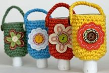 Hand sanitizer cosy and other fun projects / Gifts crocheted or sewn / by Judy Relyea