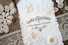 Scrapbook with lace