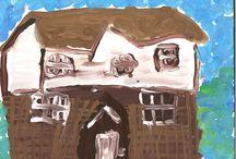 Kentish Abode / Reception paint Kentish houses for Wealden Times Fair competition