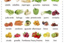 temporada verduras y frutas