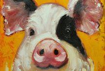 maľované zvieratká...