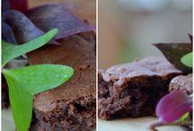 Svampet brownies med marcipan