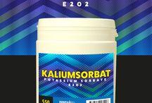 Kaliumsorbat / Kaliumsorbat är ett vanligt förekommande och livsmedelsgodkänt konserveringsmedel.