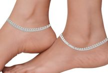 Anklets or Payal Indian Jewellery / Latest Designs in Payal or Anklets from Goldencollections.com
