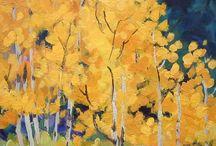 Mini Masterpiece Paintings by Contemporary Colorado Artist Laura Reilly