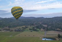 """Hot Air Balloons / Hot air balloon rides are a fun, exciting part of Wine Country travel and across the globe.  If you'd like to contribute, email luxuryandtravel@aol.com with """"Hot air balloons - Pinterest"""" in the subject line. / by Jen Miner"""