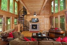 Living Rooms / Get inspired to build your new log home with some of these spectacular log home living rooms across the country.