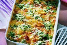 Kartoffel Spinat gratin