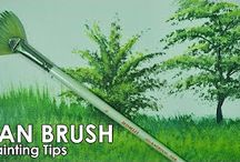 How to paint grass
