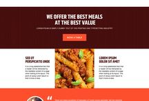 Hotel and restaurant landing page design