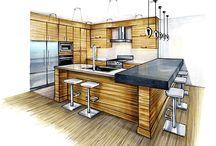 dibujo de cocinas