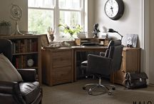 Country Files / An organised, elegant workspace, where you want to spend time is the key to productivity.  We love this warm and inviting country style home office.