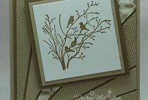 Cartes Serene silhouette / Cartes réalisées avec le set de tampon serene Silhouette de stampin Up