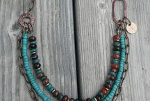 Stacked beaded necklace
