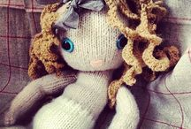dolls and plush that inspire / knitted, crochet, fabric
