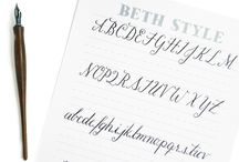 Calligraphy Fonts & Ideas