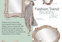 Fashion Trend: Shabby Chic / Shabby chic is one of the most popular styles in interior design. Decor is chosen for their appearance of age and signs of wear and tear or where new items are distressed to achieve the appearance of an antique.
