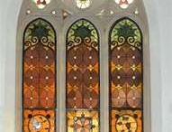stained glass, churches, & cemetaries / by Beth Harris