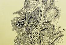 My zentangle / ZIA / My work