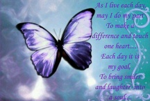 You can make a difference purple butterfly / Ladies Day