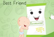 Baby's Best Friend / They say friends are like family. Protecting against Diarrhea causing microbes and treating diarrhea within two days, Econorm is your Baby's Best Friend when it comes to immunity and prevention! Like best friends do, Econorm is always there, right by your baby's side.