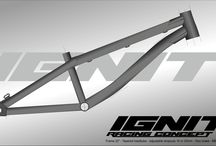 Project BMX frames / Project and evolution BMX Race frames.