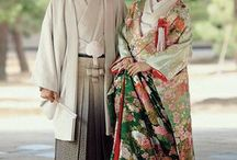 Japanese couple in traditional clothes