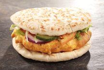 Burger New Delhi poulet curry / Plat