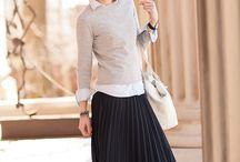 Winter's long skirts