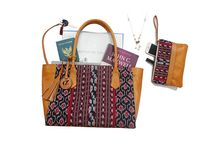 Bali Leather Bags with Woven