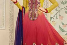 Long Anarkali Suits / Latest Style Anarkali Salwar Suit with thread embroidery