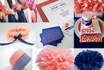 Navy and peach /or coral/ wedding