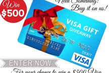 Competitions / We are giving one of our lucky fans the chance to win a $500 Visa Pre-Paid Gift Card! To enter all you have to do is comment below with what you would spend this on and follow the link  to enter!!! http://gvwy.io/djl2wx