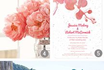 C & J wedding / Ideas and inspiration for Courtneys coral pink, vintage style wedding.