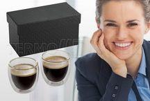 Szklanki termiczne do espresso KAVE / Zestaw dwóch szklanek termicznych do espresso 2 x 80 ml ww ozdobnym pudełku.