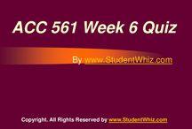 ACC 561 Week 6 Quiz