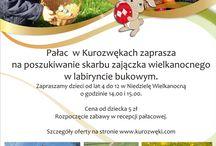 Pałac w Kurozwękach zaprasza na poszukiwanie skarbu zajączka wielkanocnego w labiryncie bukowym