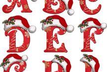 ABC NAVIDAD IV / Abecedario de Gorros de Navidad