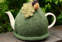 Hand-Knitted Tea cozies / A hot nice cup of tea makes us happy. Tea cozy is always with us to have tea.