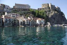 Italian seaside villages, traveling in Italy