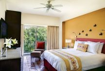 Luxury Resorts Suites / Relax in a world of tranquility enhanced by private immersion pools, Jacuzzis, cable television, wireless internet  and a wide range of luxurious amenities.
